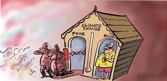 კლიმატის ცვლილების უთანასწორობა